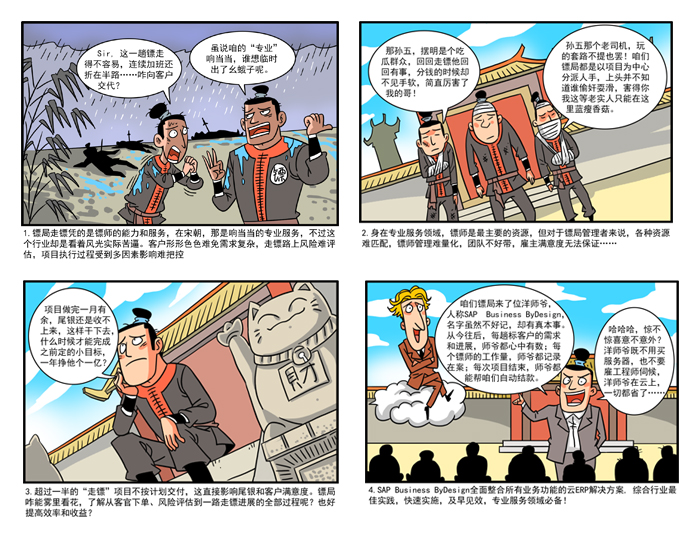 SAP Business ByDesign四格漫画