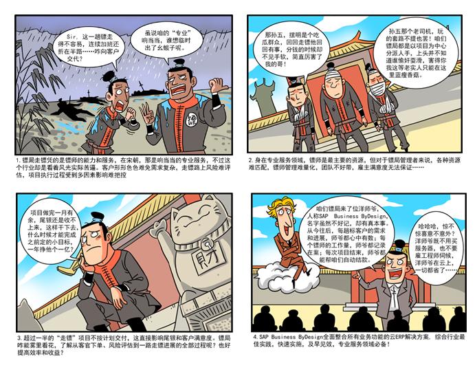 SAP Business ByDesign四格漫画