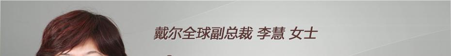 戴尔全球副总裁 李慧 女士
